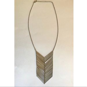 Silver Tone Arrow Design Long Necklace